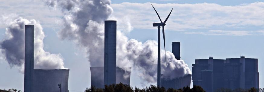 skyline of nuclear power plant