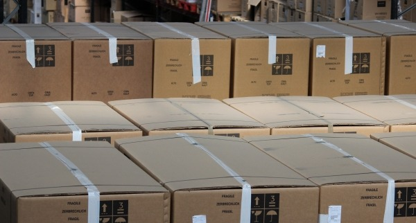 packaging boxes stacked